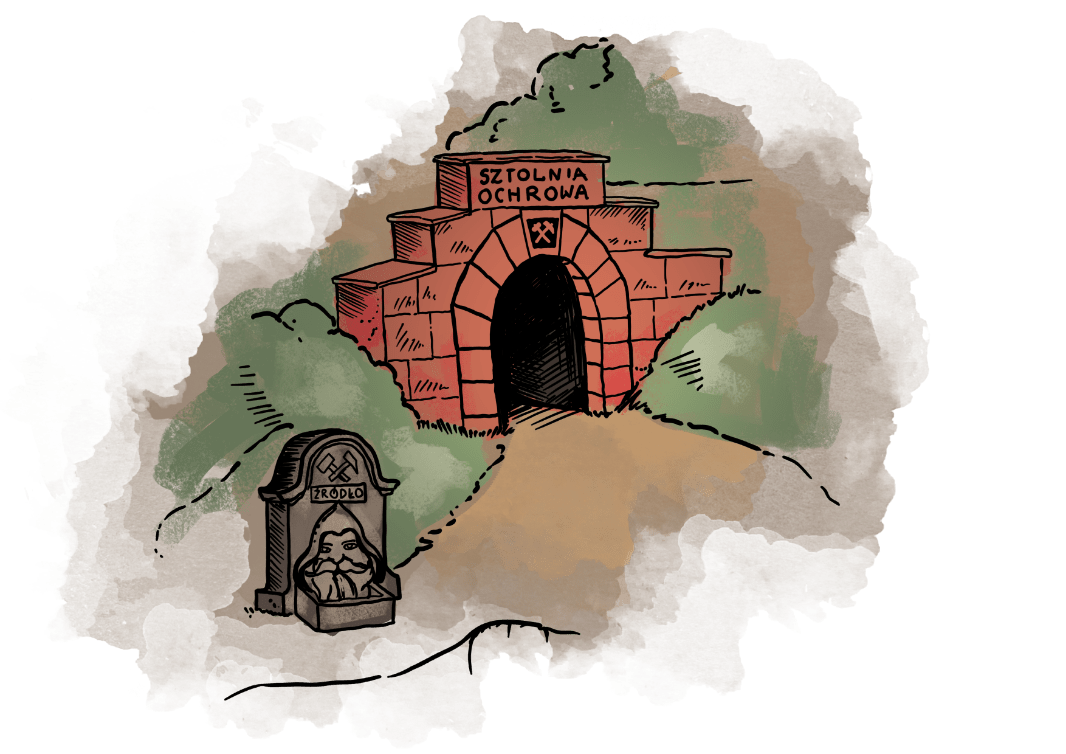 Kopalnia Złota - wejście do Sztolni Ochrowa
